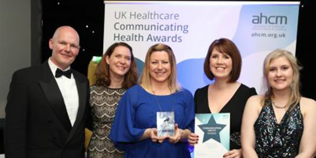 A selected image which represents the Engagement, Communications and Marketing team wins prestigious AHCM award for Best Internal Communications item